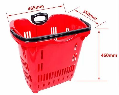 45 Ltr Rolling Shopping Basket