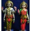 Colored Marble Vishnu Laxmi Statue