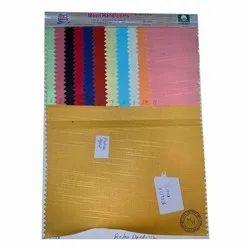 Plain Khadi Rolex Dyed Fabric, Plain/Solids, Multiple Colours