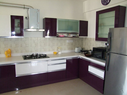 Kitchen Interior Wooden Work, Modular Kitchen Wooden Work in Jp ...