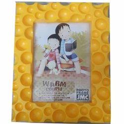 Yellow Fancy Photo Frame