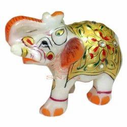 Marble Stone Painted Elephant