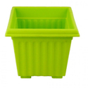 10 Inch Green Square Planter