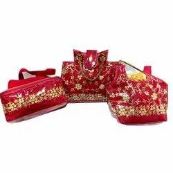 Red Silk Shoulder Ladies Bag