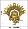 Brass Look Wall Hanging Lord Ganesh Face Decorative  Gift It
