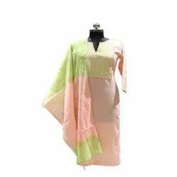 Ladies Party Wear Cotton Unstitched Suits, Wash Care: Handwash