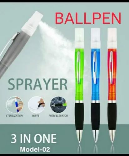 Ball Pen With Sanitizer Spray