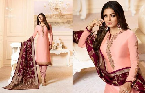 Designer Embroidered Georgette Suit