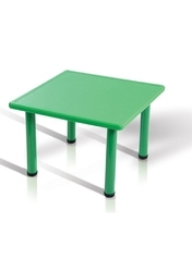 Plastic Green Square Table, Warranty: 2 Years