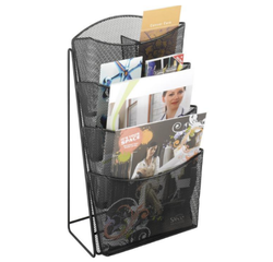 Open Storage Table Top Magazines Display Stand, For Supermarket, Shops