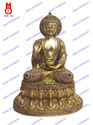 Buddha Blessing Hand W/Metal & Beads Work Statue