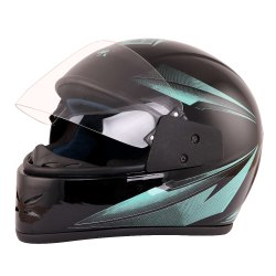 Black Full Face Bike Helmet
