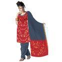Red Bandhej Designer Suit
