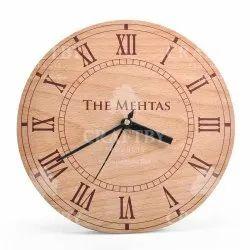 Analog European Beech Wood Circular Wooden Clock Panels