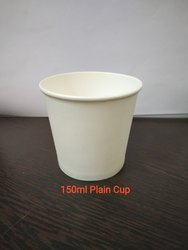 Disposable White Paper Tea Cup, Capacity: 150 mL