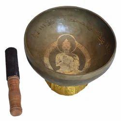 Brass Singing Bowl With Buddha Shape