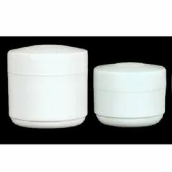 White Plastic Cream Jar
