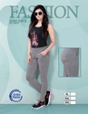 Cotton Regular Fit Ladies Grey Solid Ankle Pant