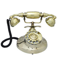 Metal Gandhi Landline Phone Golden Touch Full Finishing