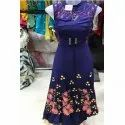 Rayon Party Wear Floral Printed Flayed Dress