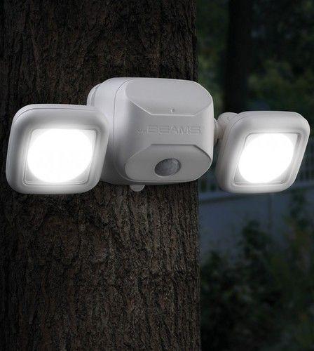 Mr 4-Pack White Beams MB304 Wireless Battery Powered LED Spotlight with Motion-Sensing and Light-Sensing