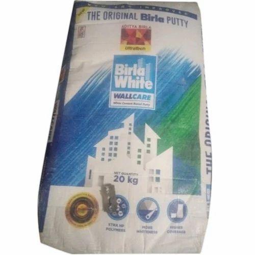 Birla White Wall Putty Packaging 20 Kg Rs 500 Bag Aashirwaad Traders Id 20400888630