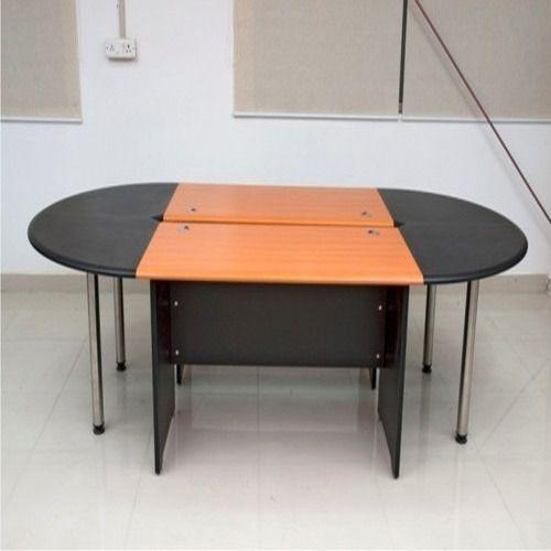 Orange Black Wooden Oval Shape Office Table Shape Oval Rs 24000