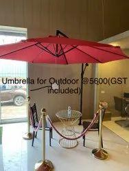 Red 10ft Patio Umbrella For Terrace, Cafeteria, Garden, Lawn