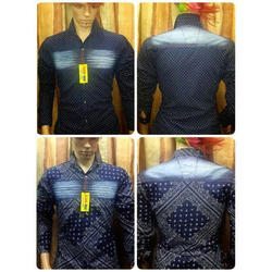 Cotton Mens Printed Party Wear Shirt
