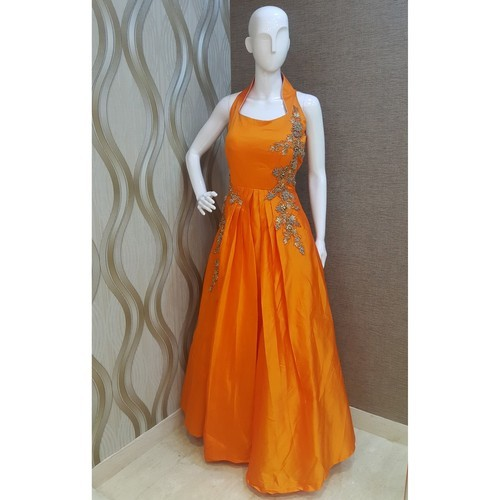 Large Orange Party Wear