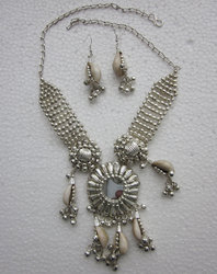Silver Party Festival Handmade Banjara Necklace Set