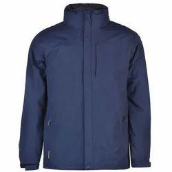 Blue Men''s Plain Jacket