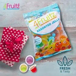 4 Fruitz Assorted Jelly, Packaging Type: Packet, Packaging Size: 300g