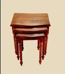 Natural Wooden Nesting Table