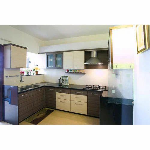 Godrej Modular Kitchen With Marine Ply Shutter At Rs: Designer Modular Kitchen At Rs 2250 /square Feet