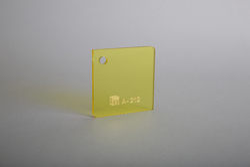 Transparent Yellow Cast Acrylic 212