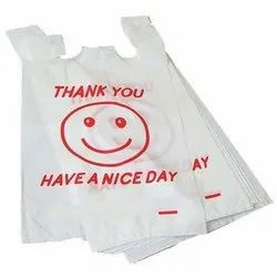 W Cut Poly Bag, for Grocery