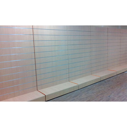 Gray Finish Slat Wall Display