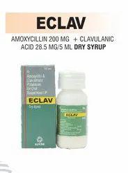Amoxycillin 200 Mg & Clavulanic Acid 28.5 Mg/5ml Dry Syrup