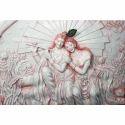 White Radha Krishna Wall Mural
