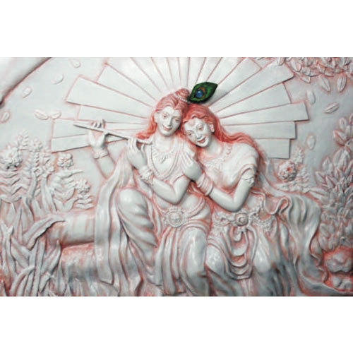 FRP Based Radha Krishna Wall Mural Part 76