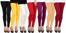 Plain Ladies Cotton Lycra Leggings, Size: XL