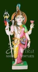 Marble Ardhanarishvara Statue