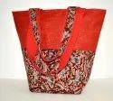 Rubis Red Jute Tote Bag