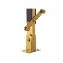 Golden Finish Wooden Glass Railing Baluster