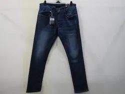 Mens Dark Blue Slim Fit Stretch Jeans(PW - 011)
