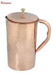 Copper Jug (Hammered) - 2.2 Ltr for Home & Restaurant