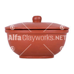 Terracotta Serving Bowl with Lid