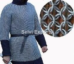 chainmail coller neck proction ~ 9 MM flat riveted with bress ring zig,zak