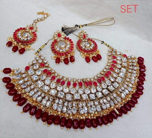 Bead Design Beautiful Wedding Necklace Set Rs 800 Piece Id